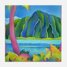 Vibrant Day in Hawaii Tile Coaster