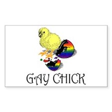 Gay Chick Rectangle Decal