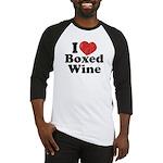 I Heart Boxed Wine Baseball Jersey