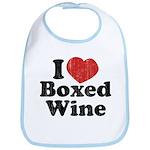 I Heart Boxed Wine Bib