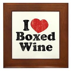 I Heart Boxed Wine Framed Tile