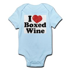 I Heart Boxed Wine Infant Creeper