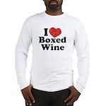 I Heart Boxed Wine Long Sleeve T-Shirt