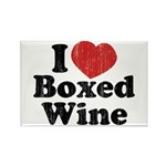 I Heart Boxed Wine Rectangle Magnet