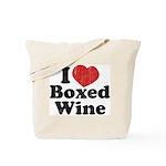 I Heart Boxed Wine Tote Bag
