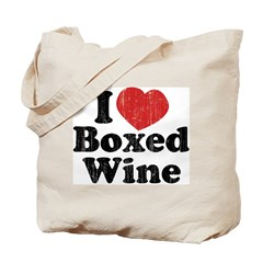 I Heart Boxed Wine Tote Bag