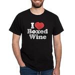 I Heart Boxed Wine Dark T-Shirt
