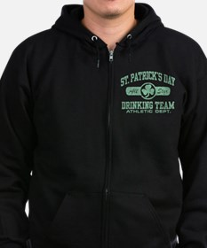 St. Patrick's Day Drinking Zip Hoodie