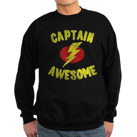 Captain Awesome Dark Sweatshirt