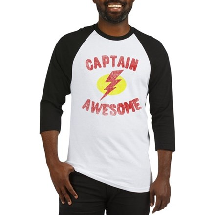 Captain Awesome Baseball Jersey