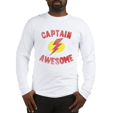 Captain Awesome Long Sleeve T-Shirt
