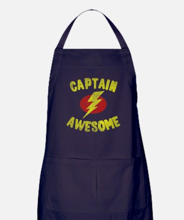 Captain Awesome Apron (dark)