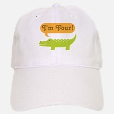 Alligator 4th Birthday Baseball Baseball Cap