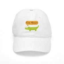 Alligator 4th Birthday Baseball Cap