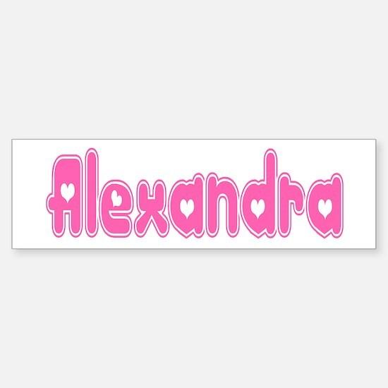 """Alexandra"" Bumper Bumper Bumper Sticker"