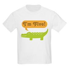 Alligator 5th Birthday T-Shirt