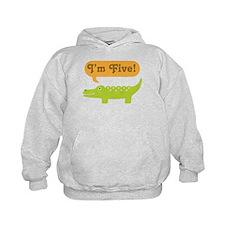 Alligator 5th Birthday Hoodie