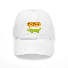Alligator 3rd Birthday Baseball Cap