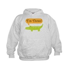 Alligator 3rd Birthday Hoodie