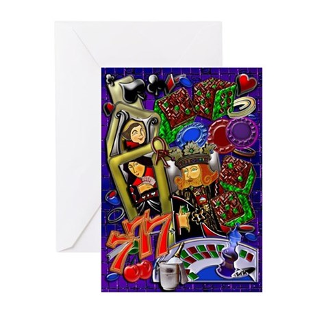 Greeting Cards (Pk of 10) Royal Heart Flush