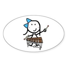 Girl & Pit Percussion Oval Decal