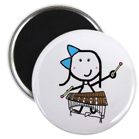 """Girl & Pit Percussion 2.25"""" Magnet (100 pack)"""