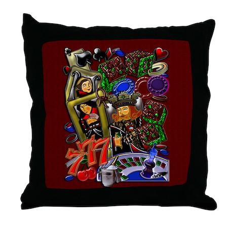 Throw Pillow Royal Heart Flush, Casino Art