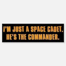 I'm Just a Space Cadet Bumper Car Car Sticker