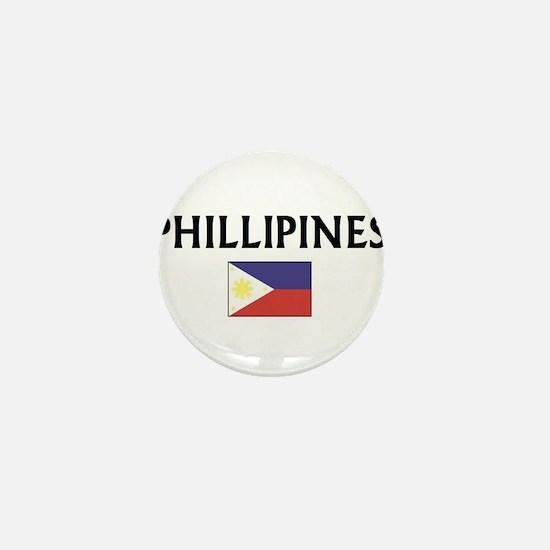 Unique Phillipine flag Mini Button