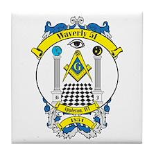 Waverly 51 Lodge Crest Tile Coaster