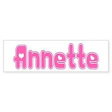 """""""Annette"""" Bumper Bumper Sticker"""