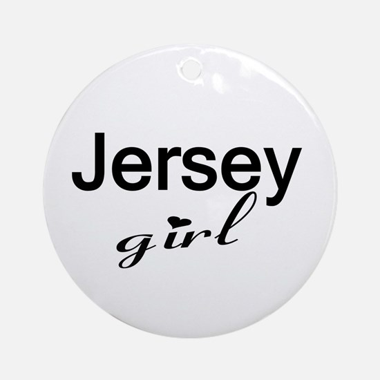 Jersey Girl Ornament (Round)