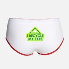 I Recycle My exes Women's Boy Brief
