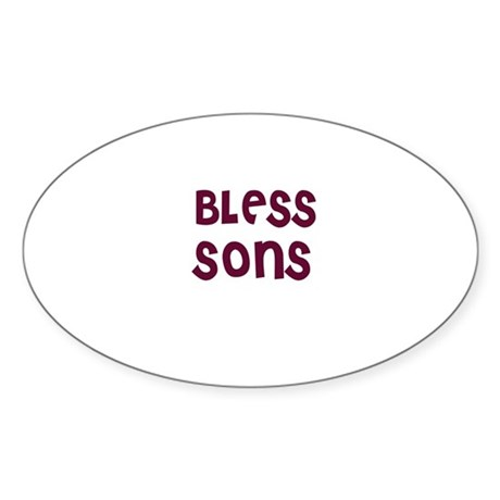 BLESS SONS Oval Sticker