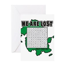 Lost T-Shirt Greeting Card