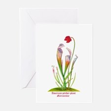 American Pitcher Plant Greeting Cards (Pk of 10)
