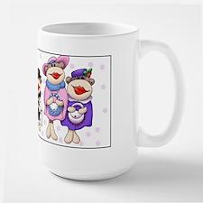 Sock Monkeys Large Mug