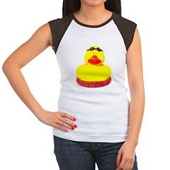 Rubber bather yellow duck Women's Cap Sleeve T-Shi