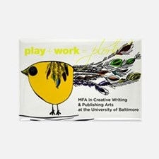 The Plork Bird - Yellow Rectangle Magnet