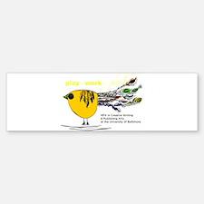 The Plork Bird - Yellow Bumper Bumper Sticker