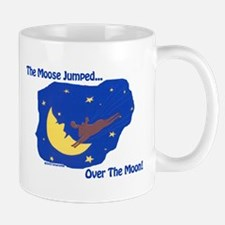 The Moose Jumped Over The Moon Mug
