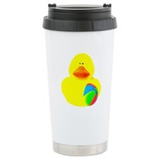Ball Player Rubber Duck Travel Mug