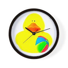 Ball Player Rubber Duck Wall Clock