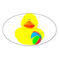 Ball Player Rubber Duck Decal