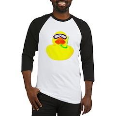 Diving Rubber Duck Baseball Jersey