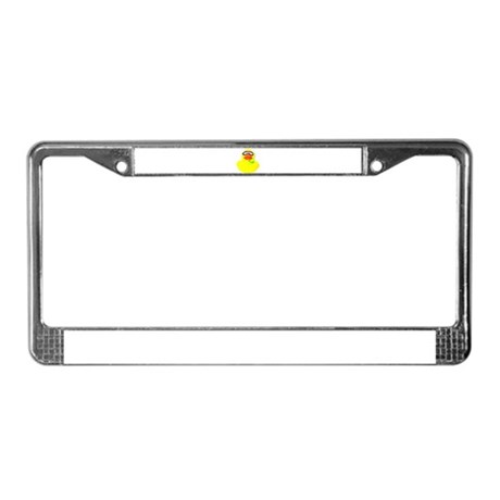 Diving Rubber Duck License Plate Frame