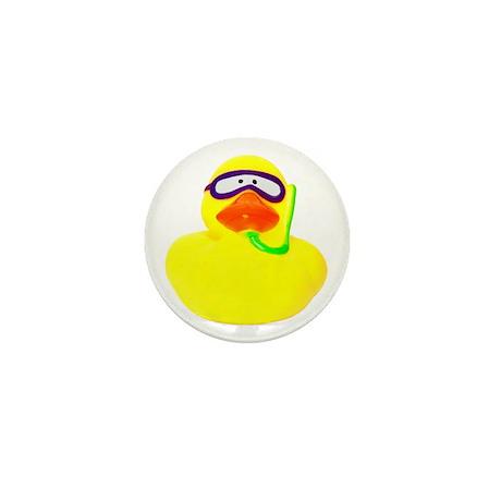 Diving Rubber Duck Mini Button
