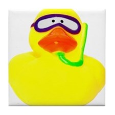 Diving Rubber Duck Tile Coaster