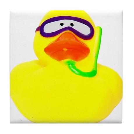 Diving Rubber Duck Tile Coaster
