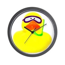 Diving Rubber Duck Wall Clock
